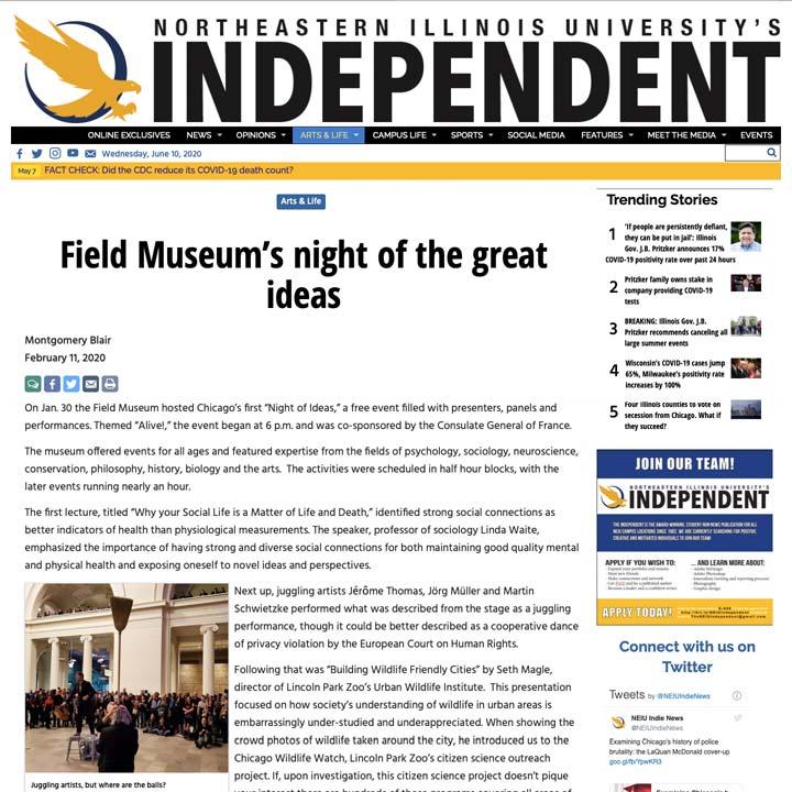 Northeast Illinois University's Independent